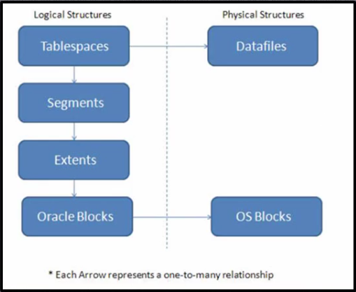 Oracle physical storage structures