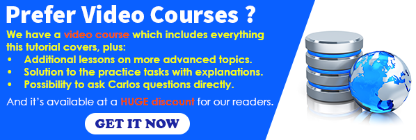 Oracle SQL Video Course Discount Offer